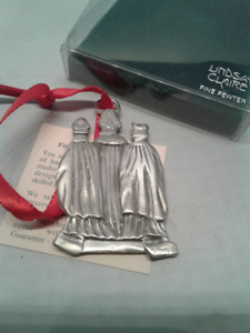 LINDSEY CLAIRE FINE PEWTER CHRISTMAS ORNAMENT
