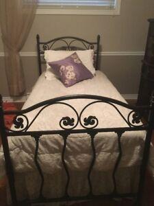 Tête/Pied de lit avec support pour matelas