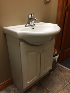 Mint Condition Vanity and Toilet