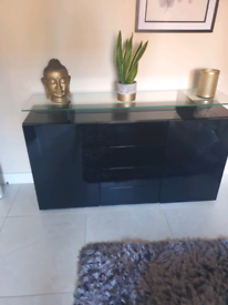 Price drop to £200.....black gloss sideboard with glass light option