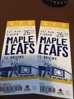 Maple Leaf Tickets - vs Boston Bruins on March 26, 2016
