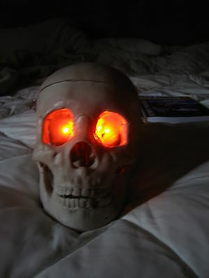 ORANGE LED Eyes Halloween use for jawa monster ghost skull costume and more