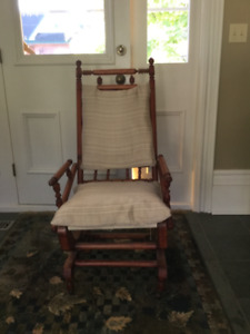 Antique fixed base rocking chair