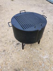 New outdoor bonfire bbq pit