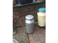 Full Size milk churn with Lid great order