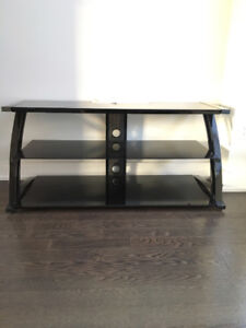 """3 layer glass tv stand...like new holds up to 60"""" TV"""