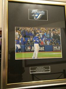 *THE BAT FLIP* Jose Bautista 8x10 framed photo Toronto Blue Jays