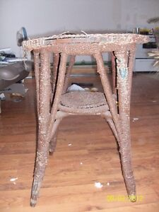 wicker chair and table, set Kawartha Lakes Peterborough Area image 1