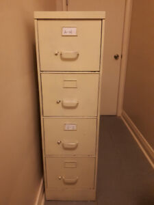 Quantity Two (2) Industrial 4 Drawer Filing Cabinets