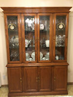 Buffet, Vaisselier en chaine / Buffet & Hutch in oak