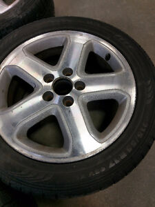 17in mags with tires 215/55/R17 5x114.3 17po Roues et pneus West Island Greater Montréal image 2