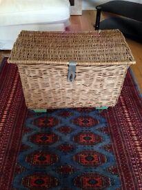 Pretty old basket on castors