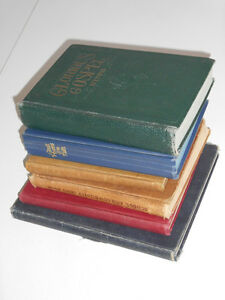 Five Hymnals and one Book of Poetry (from 1904-1968)