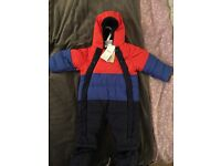 M&S Baby Boys Snowsuit Coat NEW WITH TAGS 3-6 Months