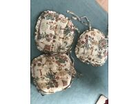Three chair cushions for sale vgc