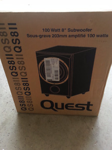 Brand new 100 watt subwoofer , Quest QS8ii