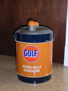 5 Gallon Gulf Vintage Oil Can