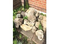 Rockery stones garden stones