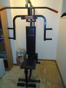 York Fitness 3230 workout machine with dumbbells $120  Great con