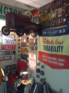GAS PUMPS, OIL CANS/BOTTLES, SIGNS, OIL COLLECTIBLES