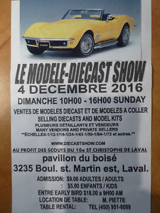 THE MODEL DIECAST SHOW NEAR MONTREAL  SUNDAY DECEMBER 4, 2016