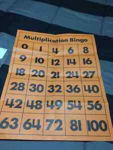 Multiplication Bingo Cambridge Kitchener Area image 2