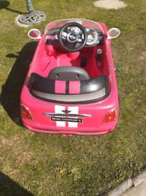 Childs electric Mini Cooper car