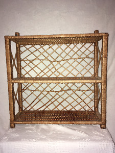 Wicker Shelf / Étagège en osier