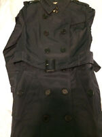 Burberry Trench Coat Navy Blue- 1:1 of the original Size US 2