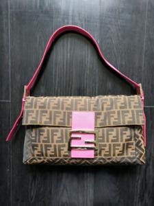 Authentic Fendi Maxi Baguette Handbag