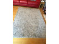 Luxury Shaggy Rug 160 X 240 cm Natural