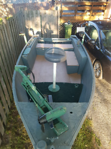 14.5ft fishing and/or hunting boat and trailer