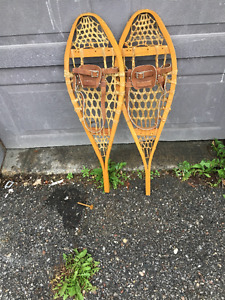 Vintage handmade youth snowshoes