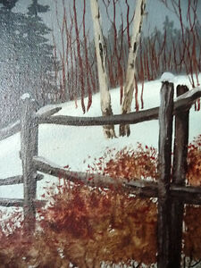 "Snowy Forest Landscape by Hilkka Pellikka ""The Evening Storm"" Stratford Kitchener Area image 6"