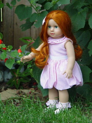 "New American Fashion World Doll ~ Charlotte ~ 18"" Girl Doll ~ With Red Hair"