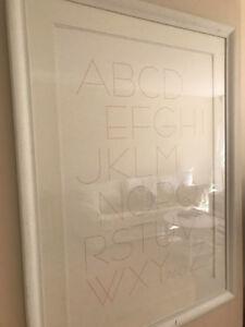 Modern Alphabet Picture frame