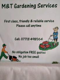 Gardening services.