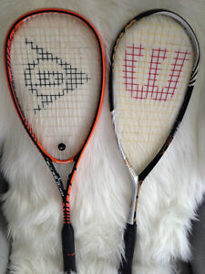 Dunlop and Wilson Squash Rackets - MINT CONDITION