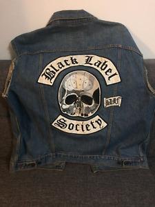 Black Label Society Denim Vest