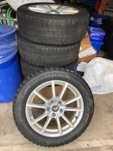 Snow Tires on Alloy Wheels - Blizzak 225/55R17
