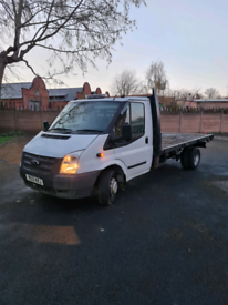 Ford transit lwb flat bed (low mileage engine)