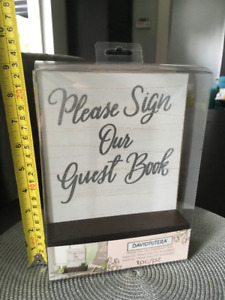 Sign for Guestbook at Wedding