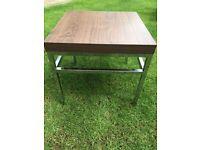 Walnut stainless steel coffee/side table