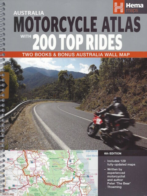 Hema Australia Motorcycle Atlas + 200 Top Rides *IN STOCK IN MELBOURNE - NEW*