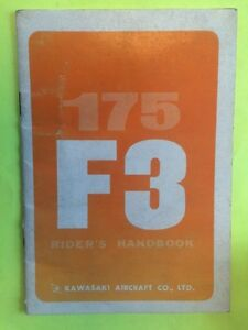 1968 Kawasaki AirCraft F3 175 Bushwacker  Riders Manual