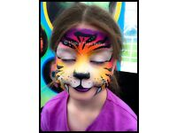 Professional face painting, balloon modelling, glitter tattoos and craft parties face paint