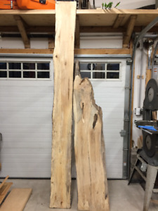 rustic live edge spalted maple