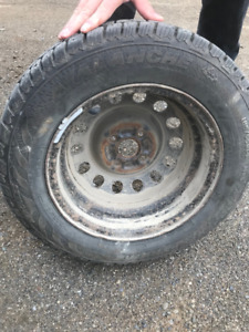 WINTER TIRES 185/65R14 LIKE NEW *USED ONLY TWO MONTHS* WITH RIMS