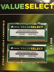 16GB Corsair Memory RAM 2X8 DDR3