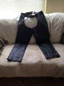 MOTORCYCLE LEATHER CHAPS-XL